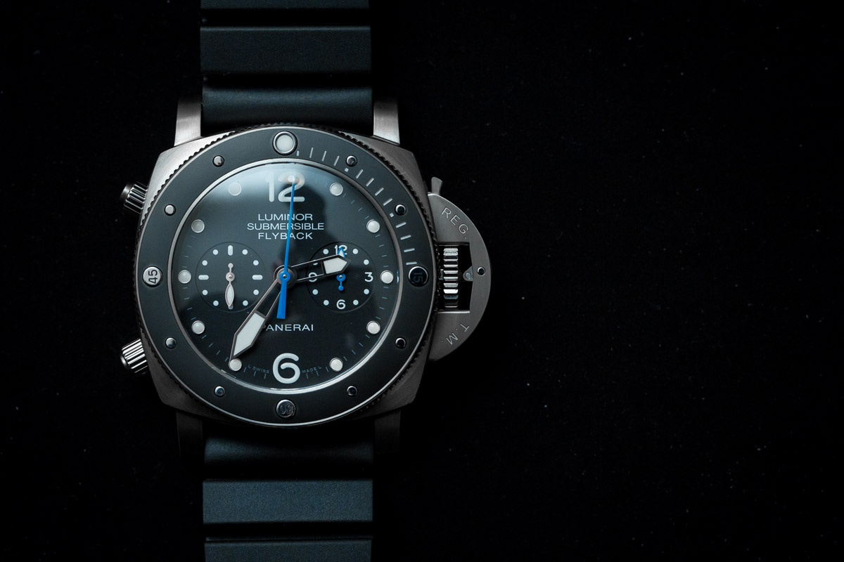 Panerai Luminor Submersible 1950 3 Days Chrono Flyback Automatic Titanium PAM 615 Watch