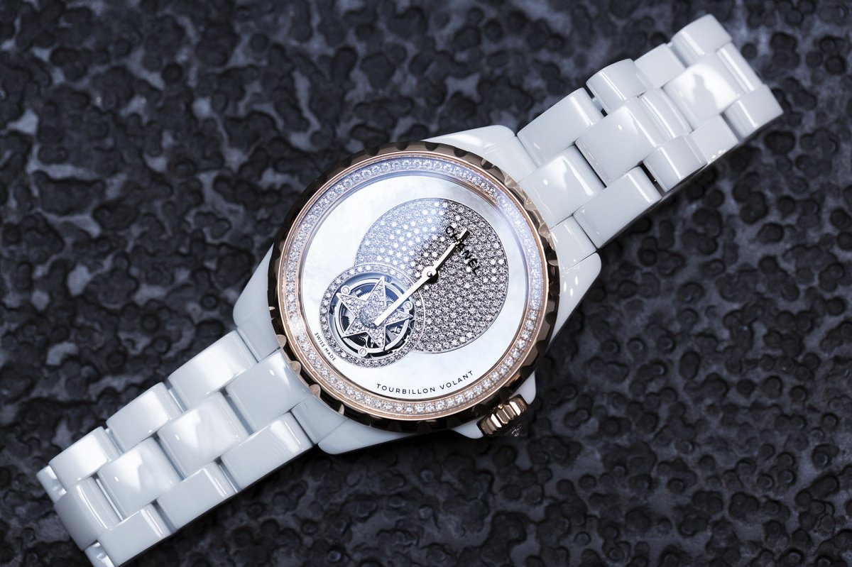 Chanel J12 Flying Tourbillon witte wacht Baselworld 2015 voorzijde