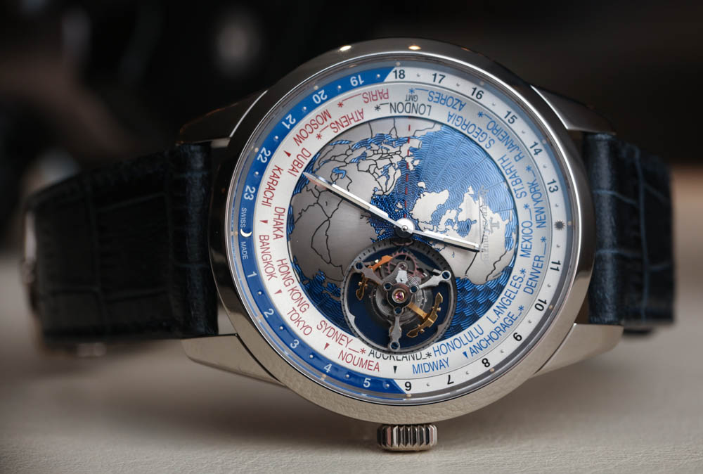 Jaeger-LeCoultre Geophysic Universal Time Tourbillon Watch Hands-On Hands-On