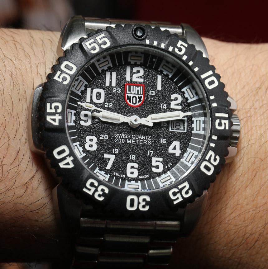 Luminox Steel Colormark 3150 Watch Hands On Swiss AP