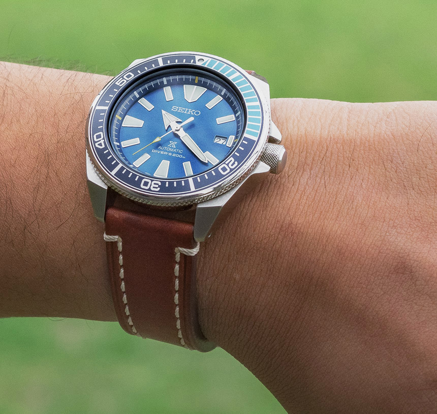 Seiko Prospex Blue Lagoon Samurai SRPB09 Limited Edition Watch Review Wrist Time Reviews