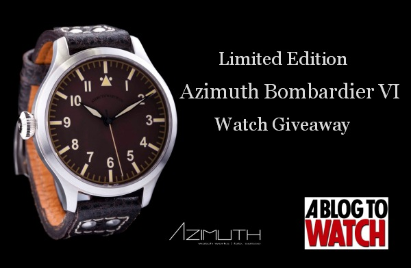 726fd796a0e Azimuth Bombardier VI Watch Winner Announced - Swiss AP Watches Blog