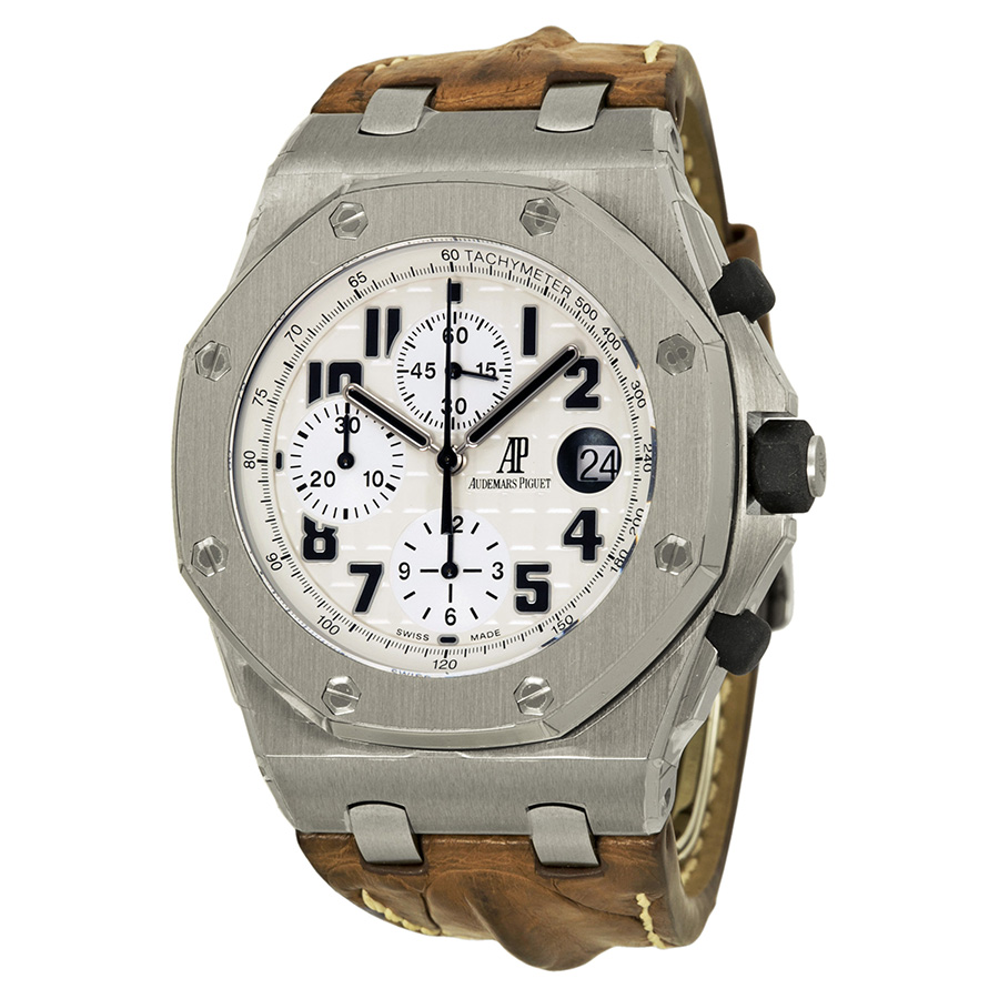 Royal Oak Offshore Chronograph Men's Watch With Brown Strap