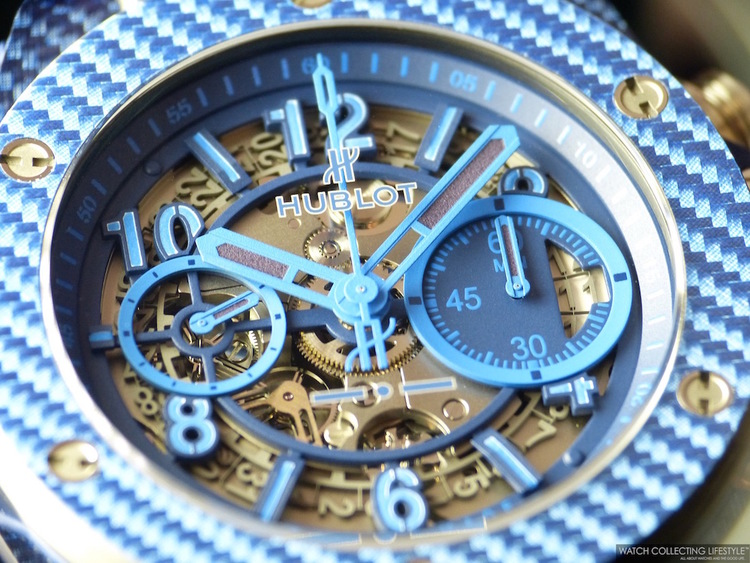 Hublot new watch with blue color-Big Bang Italia Independent