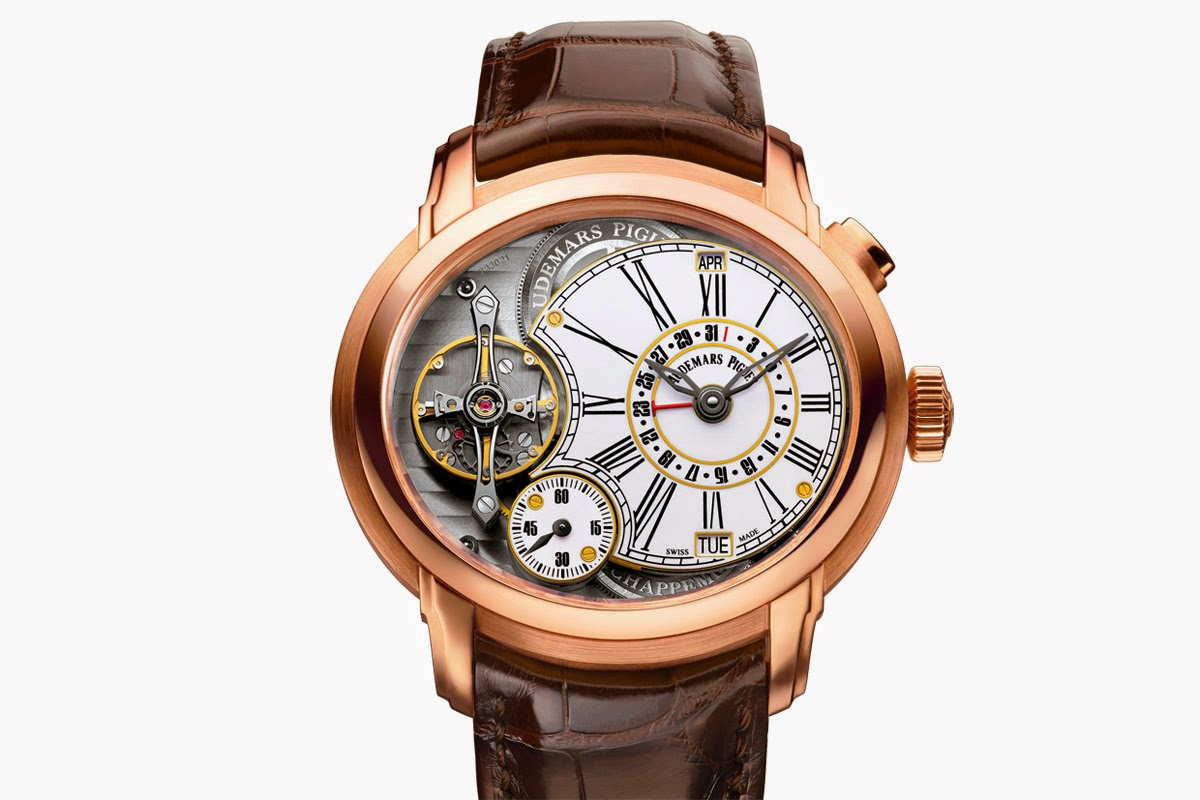 Front of Audemars Piguet Millenary Quadriennium 18k rose gold watch