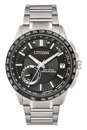 Front of Citizen Satellite GPS F150 watch