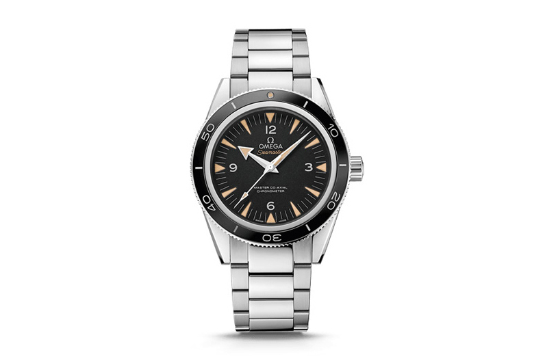 Front of Omega Seamaster 300 Master Co-Axial diving watch