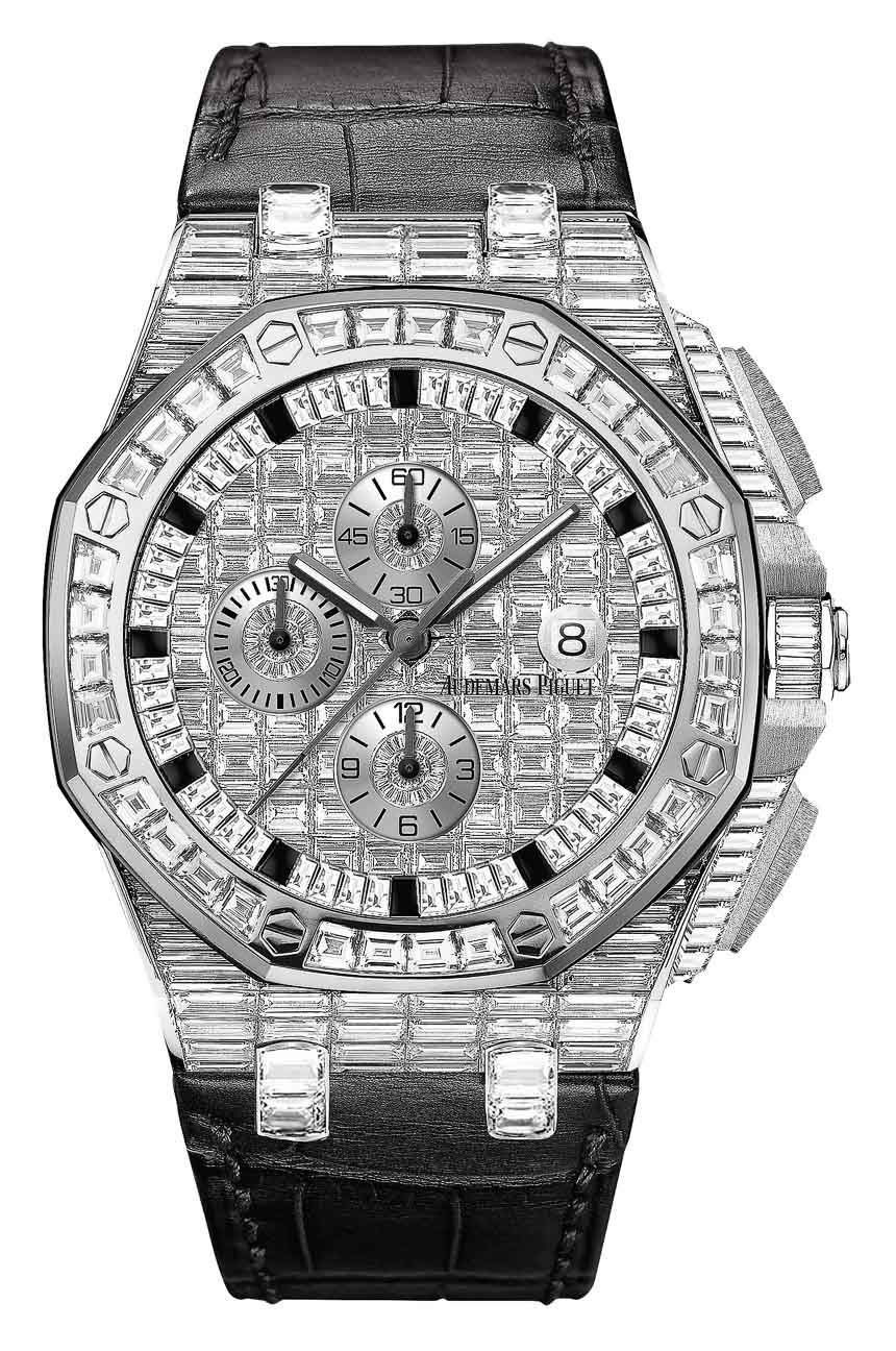 Audemars Piguet Royal Oak Offshore diamond-covered watches 02