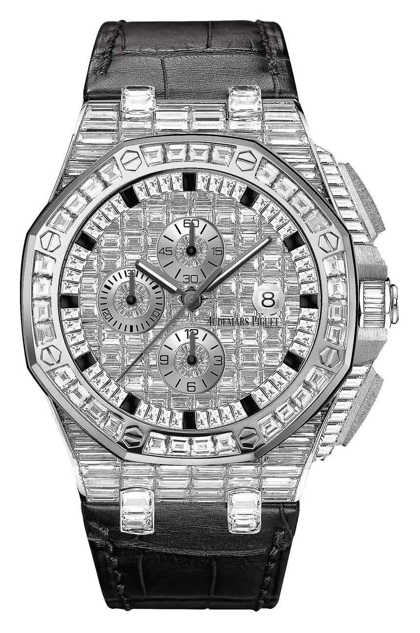 Audemars Piguet Royal Oak Offshore diamond-covered watches 02