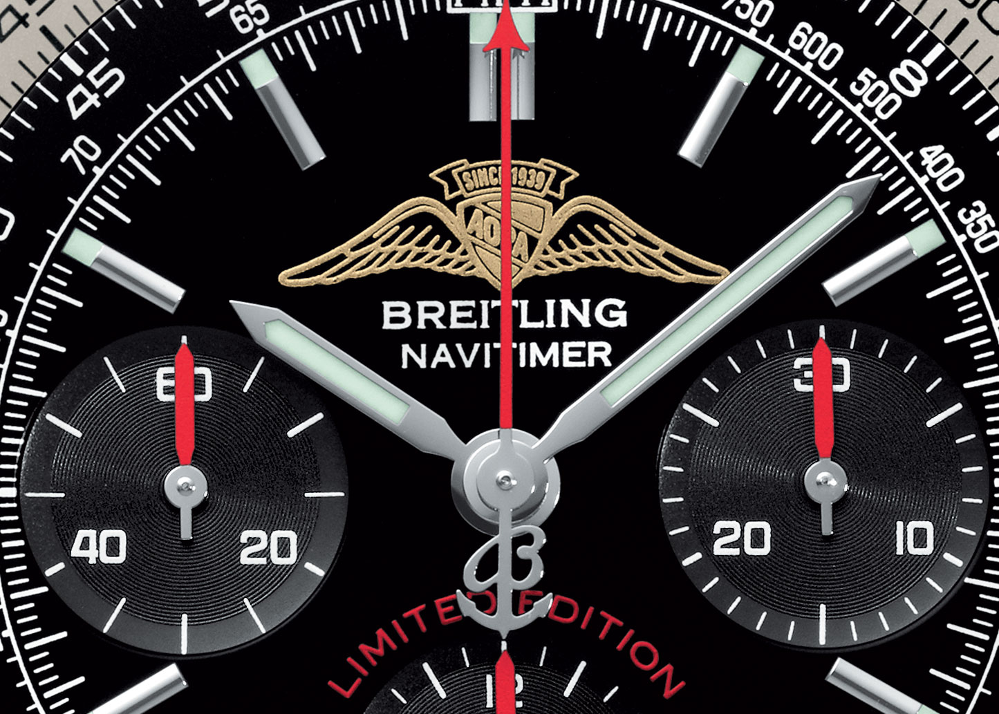 breitling aviator watches 6kgq  Breitling Navitimer AOPA limited edition watch dial