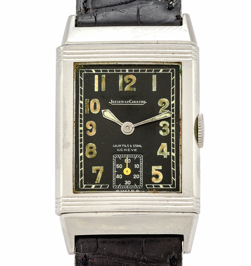 Front of Jaeger-LeCoultre Reverso vintage watch