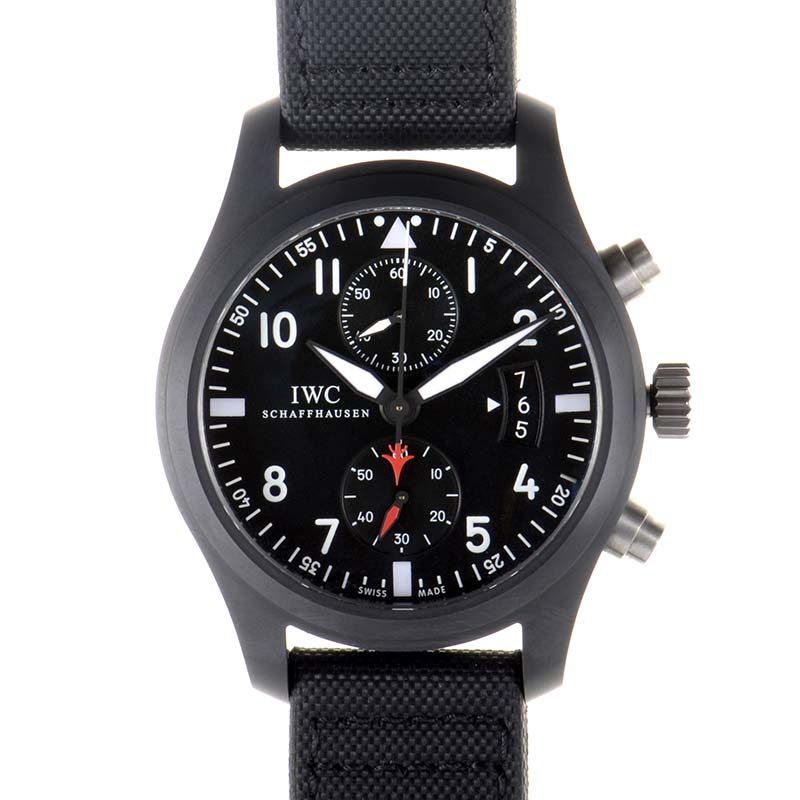 Front of IWC Pilot Chronograph Top Gun