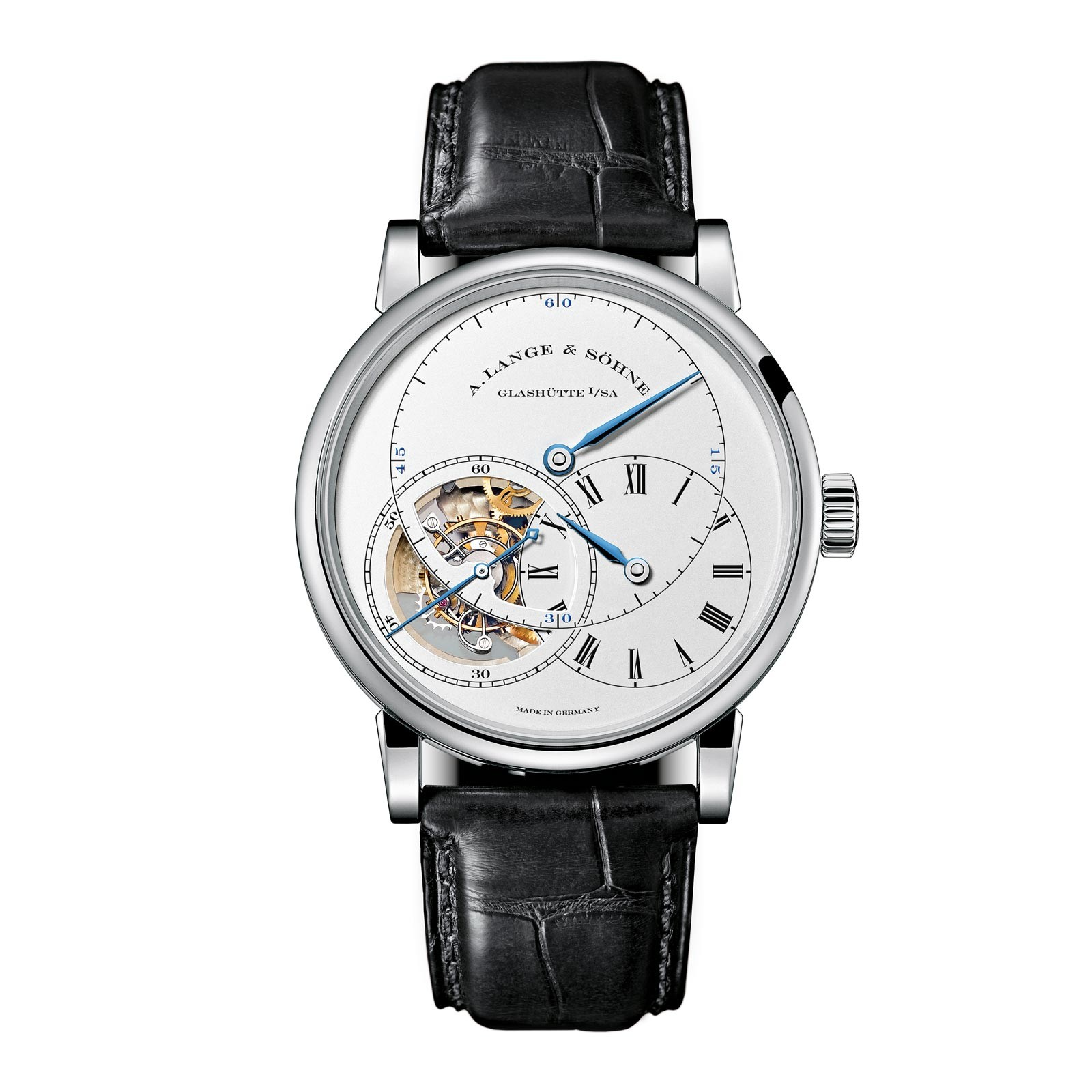 Front of A. Lange & Söhne Richard Lange Tourbillon Pour le Merite 18K white gold
