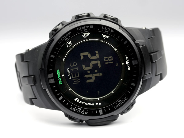 Side of Casio Pro Trek PRW3000-1
