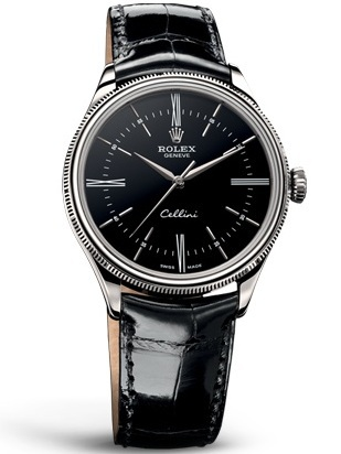 Front of Rolex Cellini whit gold watch