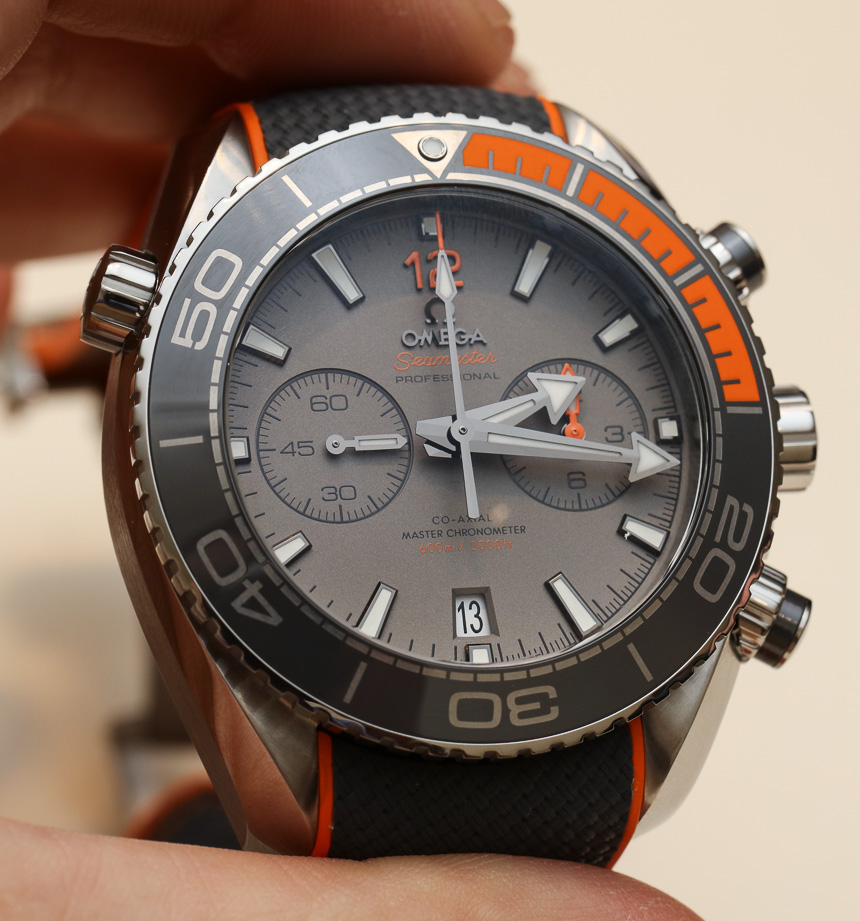 Front of Omega Seamaster Planet Ocean Master Chronometer Chronograph