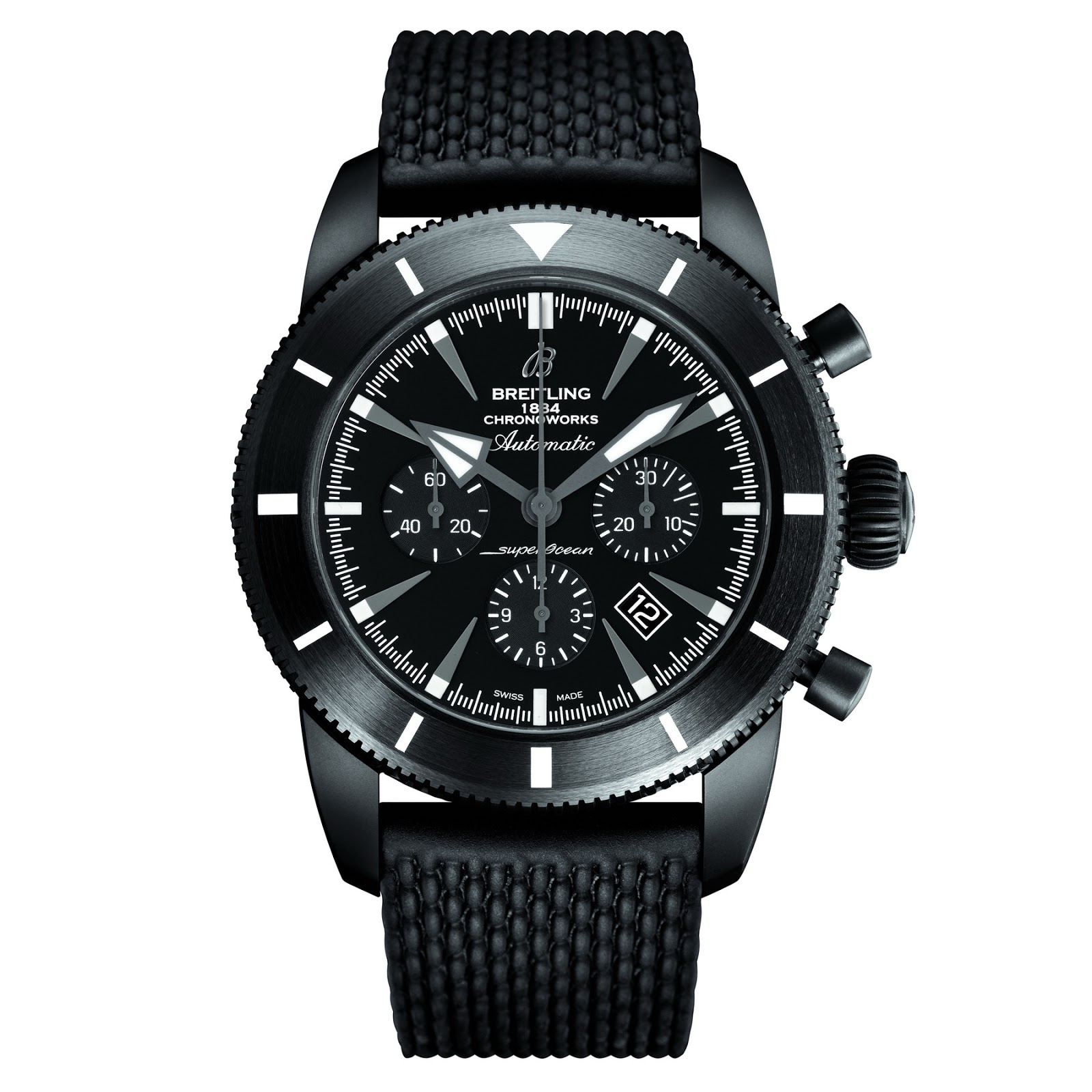 Front of Breitling Superocean Heritage Chronoworks