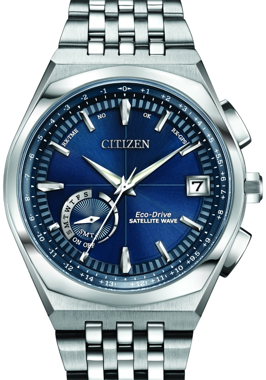 Front of Citizen Satellite Wave World Time GPS CC3020-57L watch