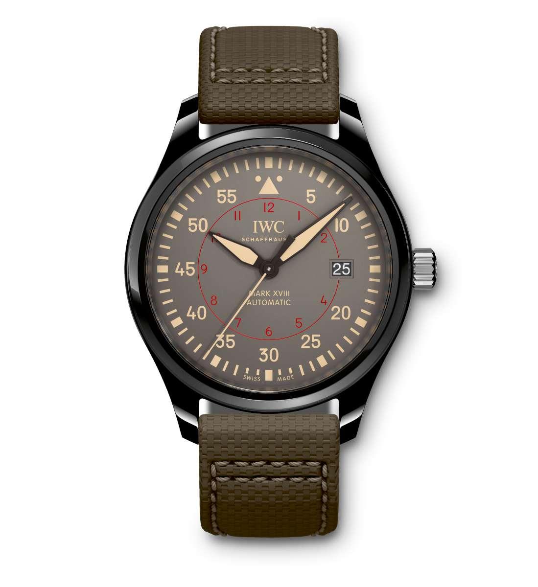Front of IWC Pilot's Watch Mark XVIII Top Gun Miramar