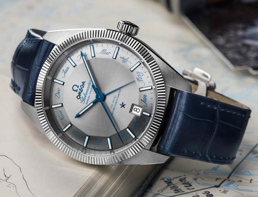 Side of Omega GlobeMaster Annual Calendar watch