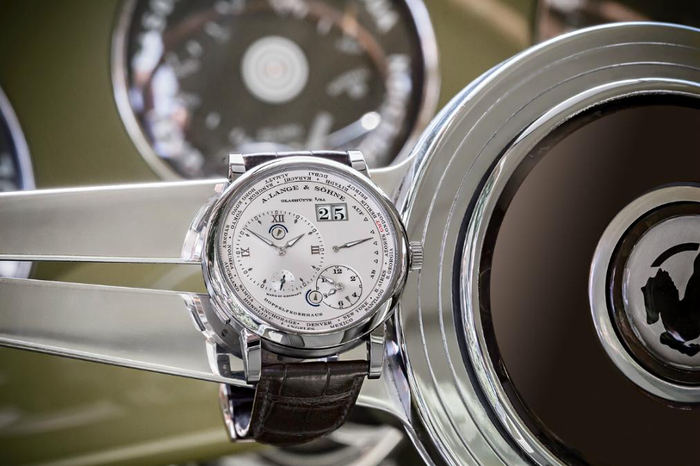 A. Lange & Söhne LANGE 1 TIME ZONE 'Como Edition' Watch hands on