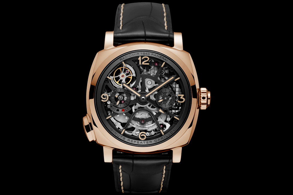 Front of Panerai Radiomir 1940 Minute Repeater Tourbillon GMT PAM00600