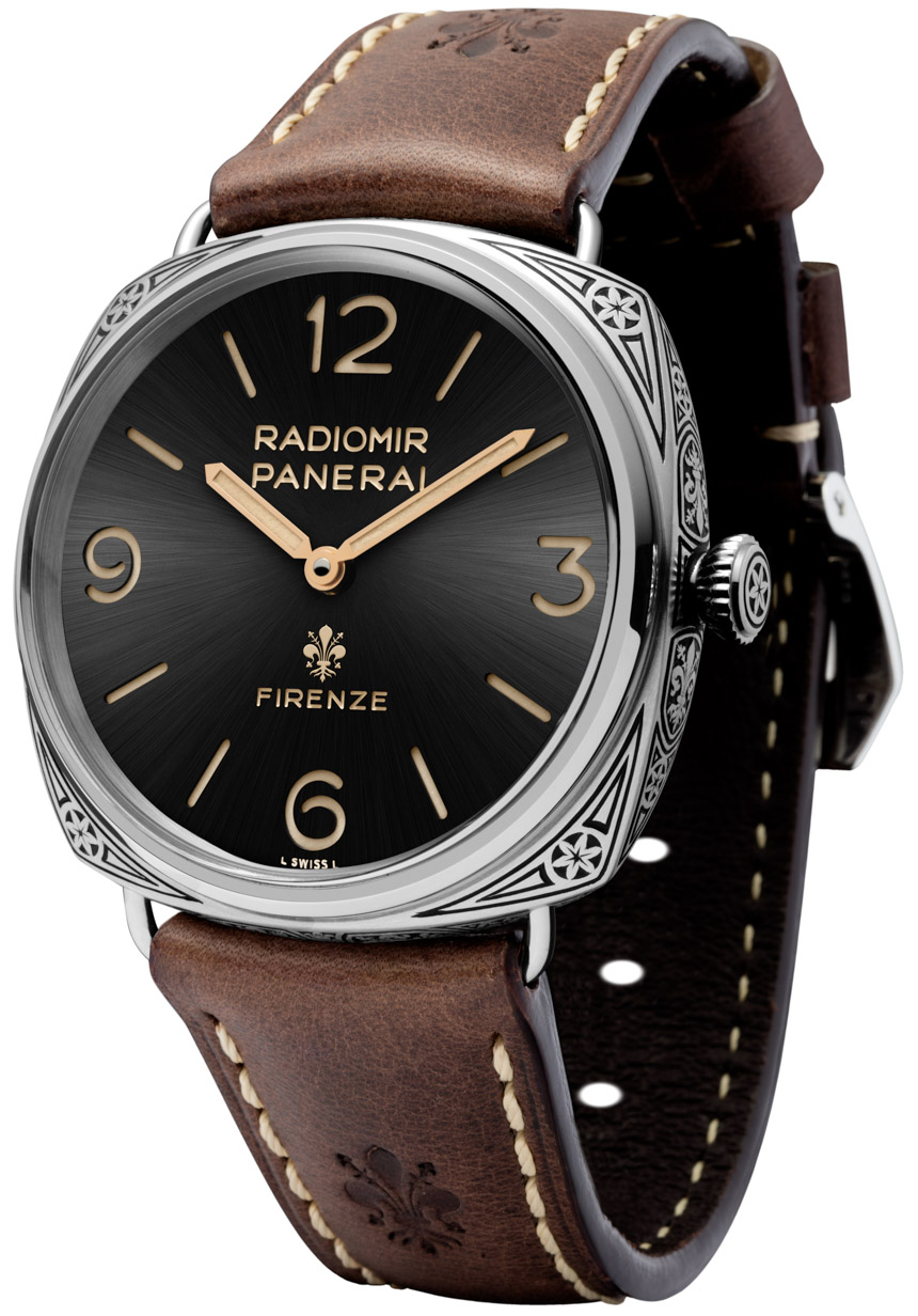 Side of Panerai Radiomir Firenze 3 Days PAM672