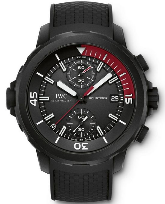 "Front of IWC Aquatimer Chronograph Edition ""La Cumbre Volcano"" watch"