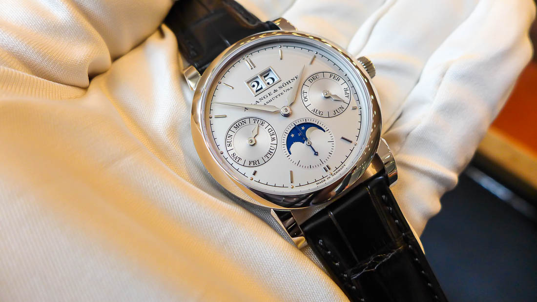A. Lange & Söhne Saxonia Annual Calendar Platinum watch review 02