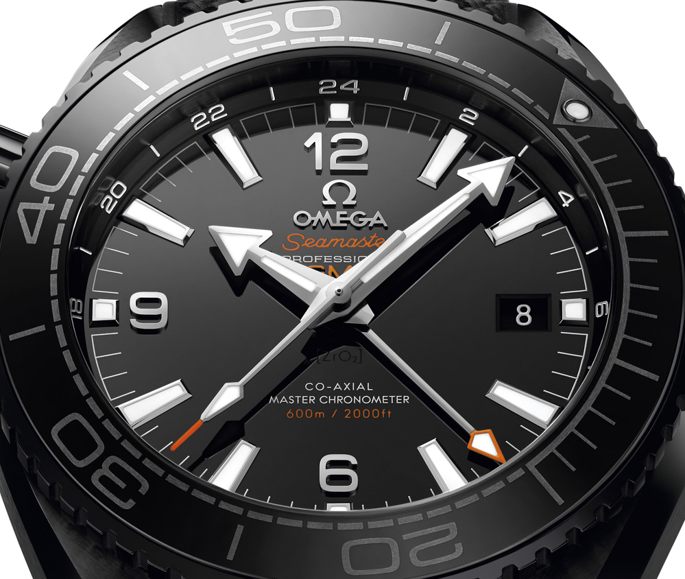 Omega Planet Ocean Deep Black Collection dial 03