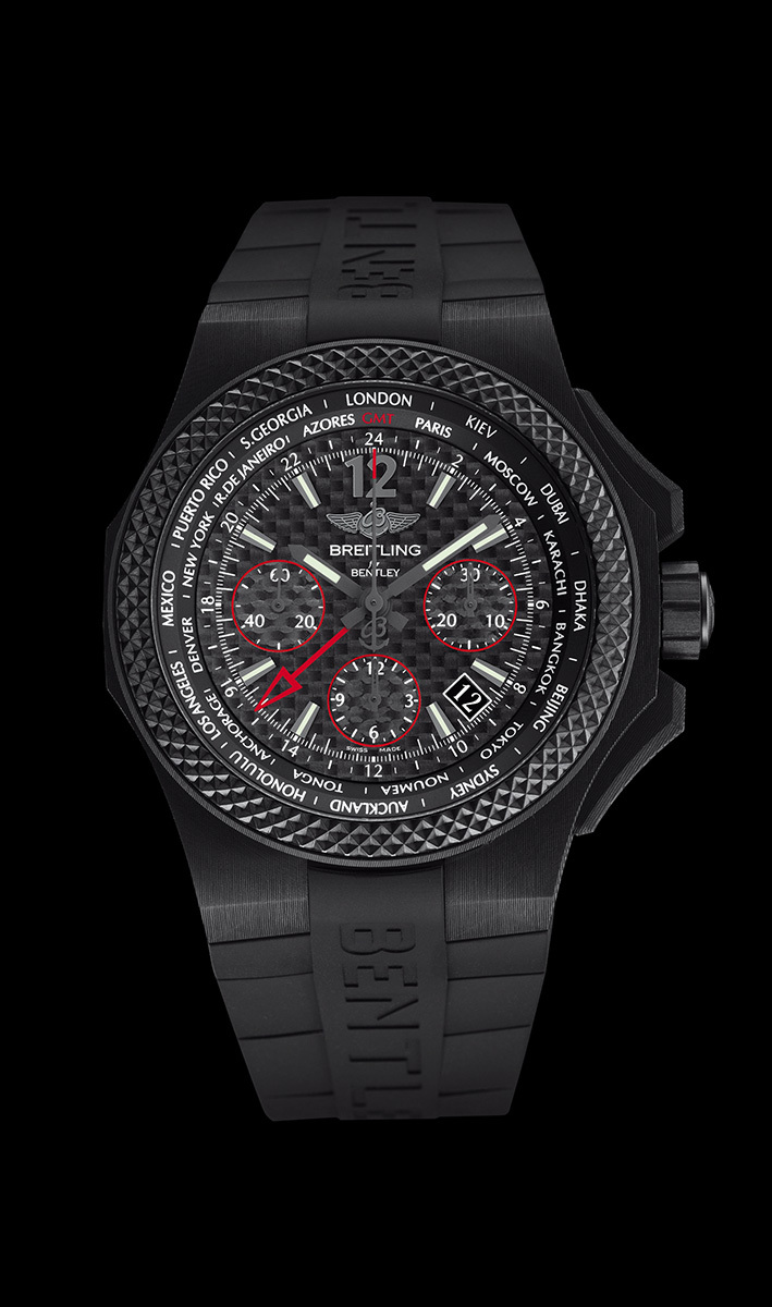 Front of Bentley GMT B04 S Carbon watch