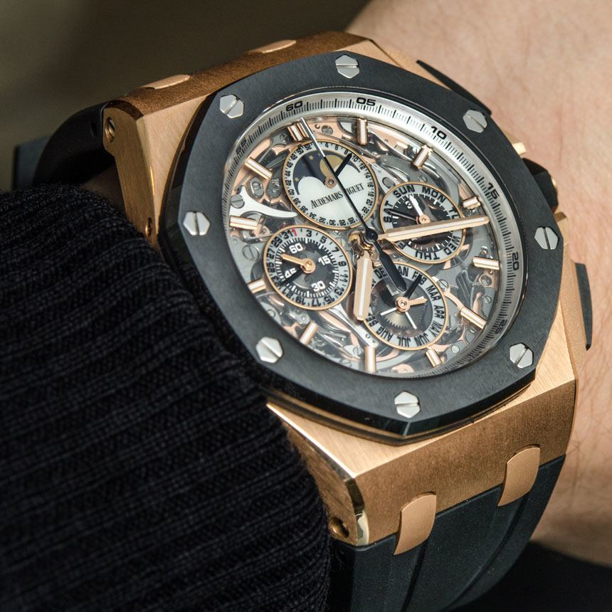 offshore ap stainless strap audemars royal piguet oak watches chrono black rubber oo