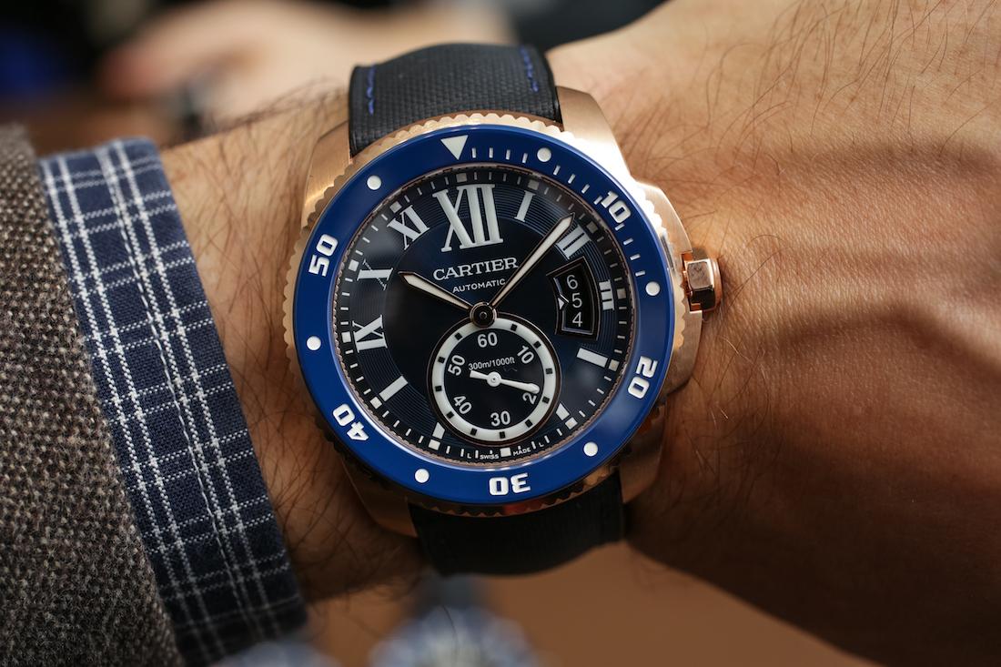 5d56bf07dfa Cartier Calibre De Cartier Diver Blue Watch Hands-On - Swiss AP ...