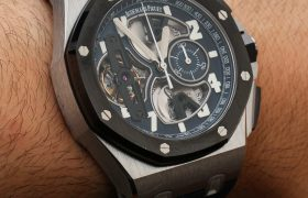 Audemars Piguet Royal Oak Offshore Tourbillon Chronograph Watch In Platinum Hands-On Hands-On